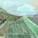 Campos de lavandas y montañas©